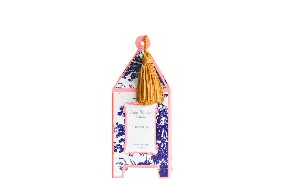Classic Toile Mini Pagoda Box Candle - Citronelle