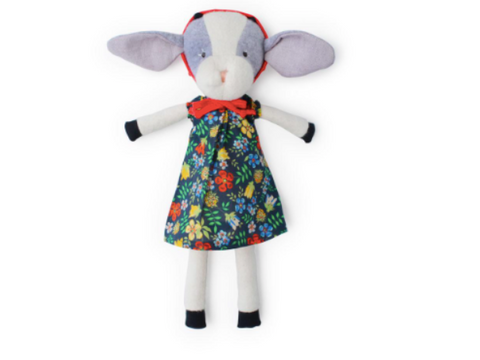 Hazel Village - Ivy Goat in Tea Party Dress and Bonnet