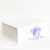 White Gift Box with Lavender Grosgrain Ribbon