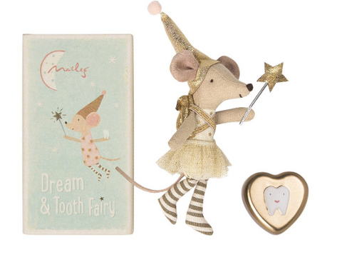 Maileg Tooth Fairy Mouse - Big Sister and Keepsake Tooth Box