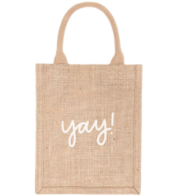 Yay! Reusable Jute Gift Tote (Small)