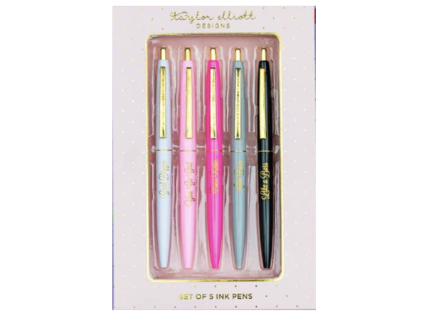Taylor Elliott Boss Babe Pen Set in Gift Box - Set of 5