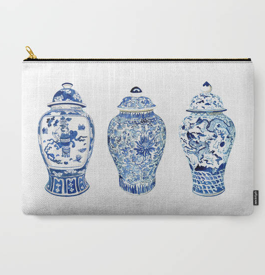 Ginger Jar Trio Pouch