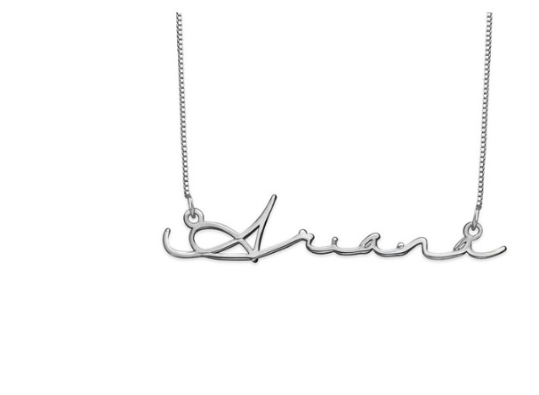 Signature Name Sterling Silver Necklace