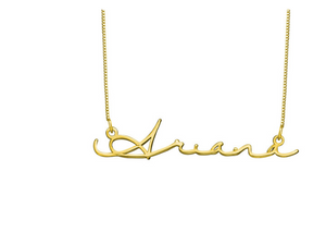 Signature Name 18k Gold Plated Necklace