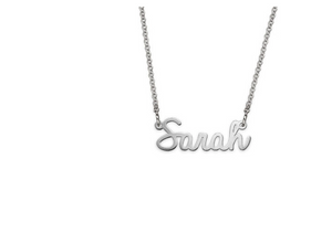 Tiny Signature Name Necklace in Sterling Silver