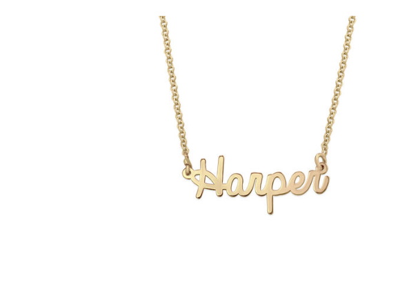 Tiny Signature Name Necklace in 18k Gold Plating