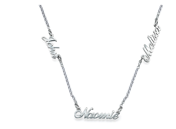 Multiple Name Necklace in Sterling Silver - 2 Names