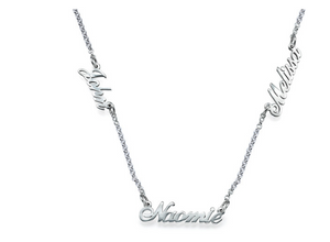 Multiple Name Necklace in Sterling Silver - 5 Names