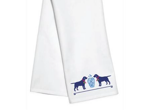 Tassel Dogs Kitchen Towel by WH Hostess
