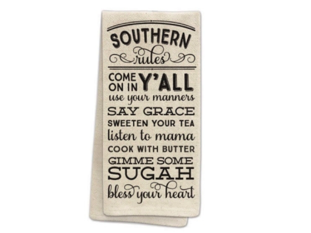 Southern Rules Tea Towel