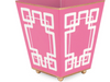 Pink and White Interlocking Square Cachepot - 4in