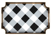 Black and White Buffalo Plaid Tray