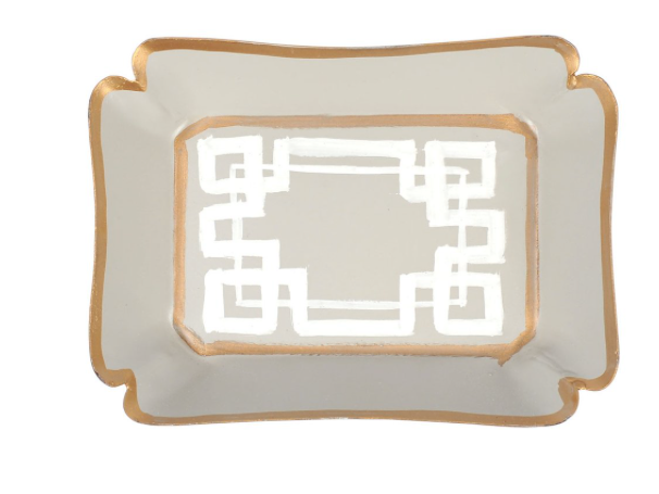Taupe Interlocking Key Trinket Tray