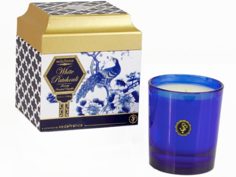 Seda France  Bleu et Blanc Boxed Candle - White Patchouli