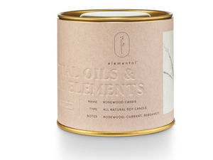 Illume Elemental Natural Candle Tin - Rosewood Cassis