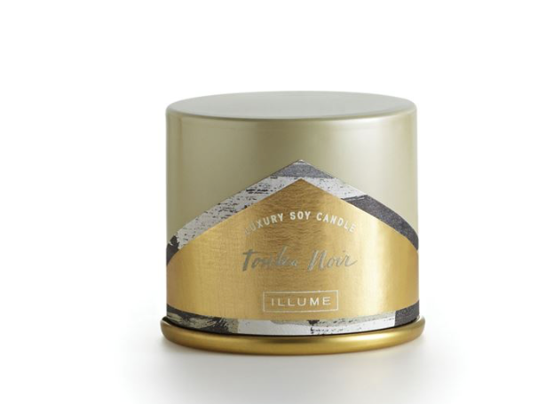 Illume Tonka Noir Demi Candle Tin (Small)