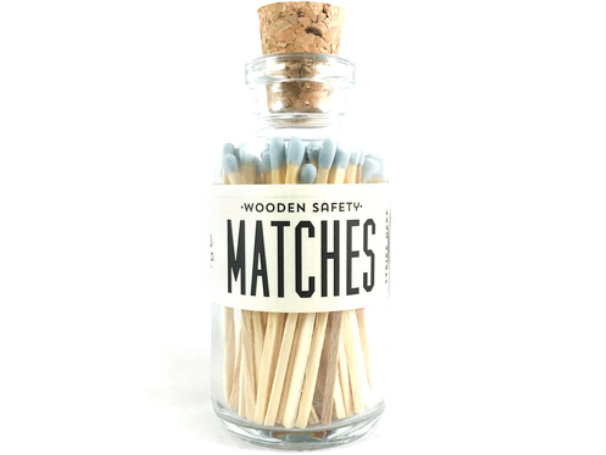 Vintage Apothecary Matches Mini - Powder Blue