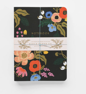 Rifle Paper Co. Assorted Lively Floral Notebook Set (Set of 3)