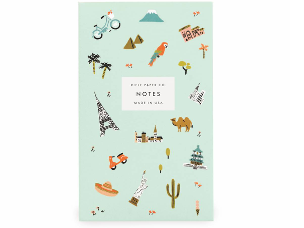 Rifle Paper Co. Wanderlust Travel Notepad - Pocket Sized