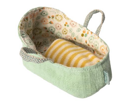 Maileg Carry Cot - Mint