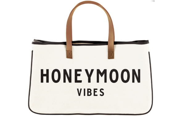 Honeymoon Vibes Tote with Leather Handles