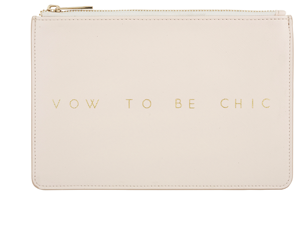 Vow to Be Chic Vegan Leather Bridal Pouch