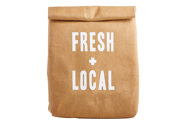 Fresh + Local Washable Paper Lunch Bag - Kraft