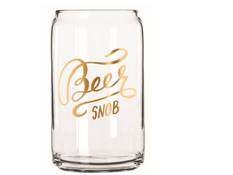 Beer Snob Can Glass