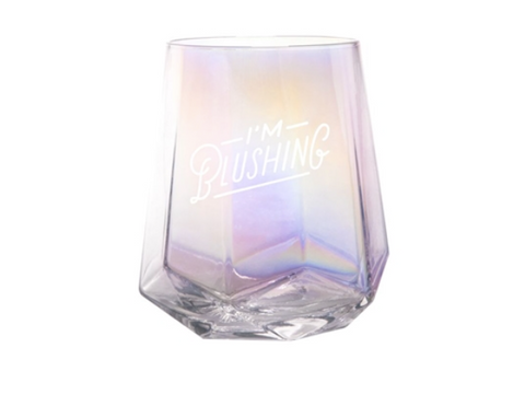 I'm Blushing Iridescent Stemless Wine Glass