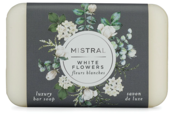 Mistral - White Flowers Luxury Bar Soap