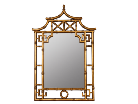 Gold Pagoda Chinoiserie Mirror - 28