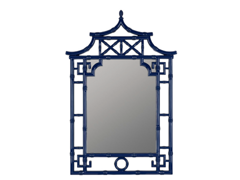 Navy Pagoda Chinoiserie Mirror - 28