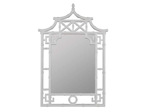 White Pagoda Chinoiserie Mirror - 28