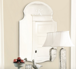 Monogrammed Curved Frameless Mirror