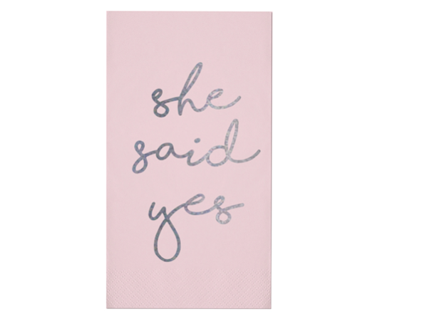 She said Yes Guest Napkins (set of 20)
