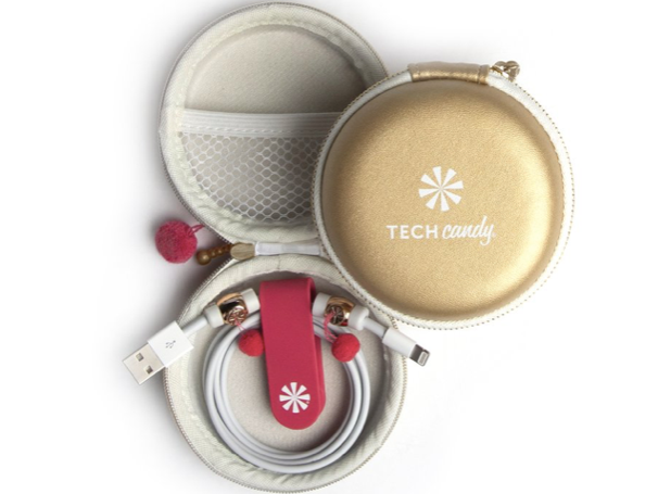 Tech Candy Cord Order - Gold/Pink