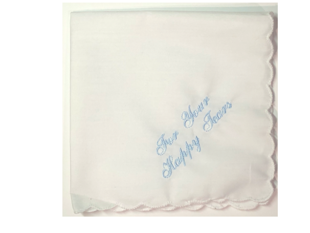 For Your Happy Tears Embroidered Handkerchief