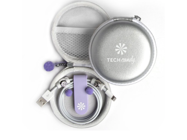 Tech Candy Cord Order - Platinum/Lavender