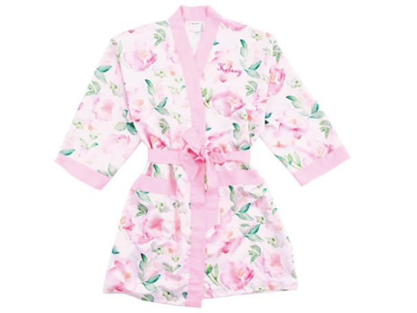 Pink Floral  Robe
