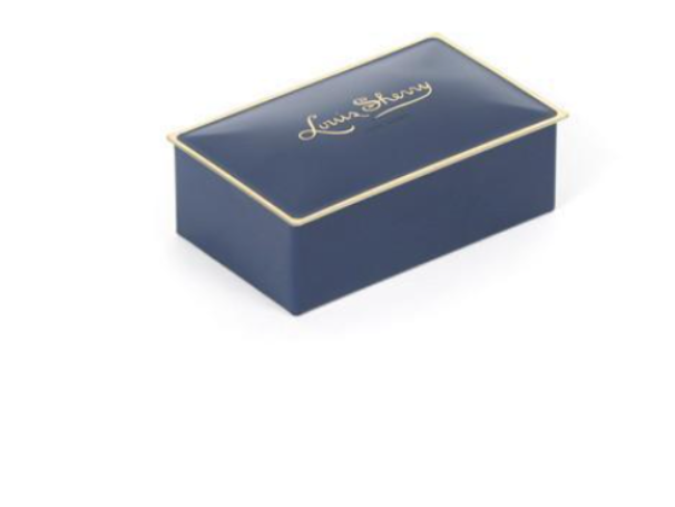 Louis Sherry 2 Piece Chocolate Tin - Ming Blue (Salted Caramel & Sicilian Orange)