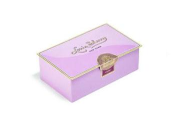 Louis Sherry 2 Piece Chocolate Tin - Amethyst  (Salted Caramel & Sicilian Orange)