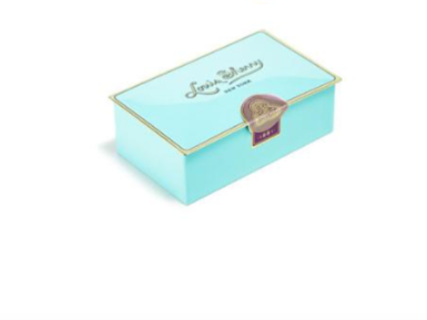 Louis Sherry 2 Piece Chocolate Tin - Nile Blue (Salted Caramel & Sicilian Orange)