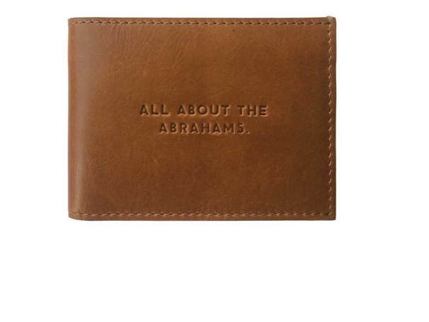 All About the Abrahams Genuine Leather Wallet in Gift Box - 4.125in