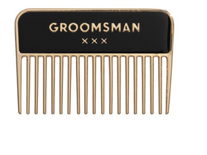 Groomsman Beard Comb with Gift Box- 2.7in
