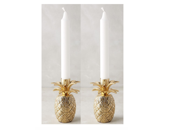 Pineapple Candle Holder - Set of 2 - 4.25in