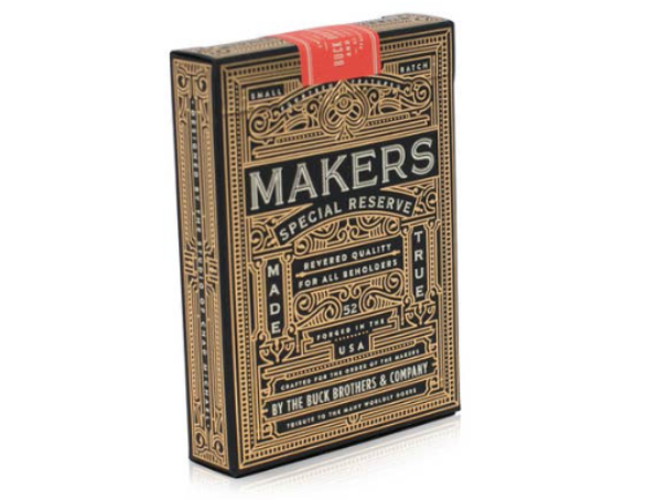 Makers: Blacksmith Ed. Luxury Playing Cards with Gold & Silver Foil