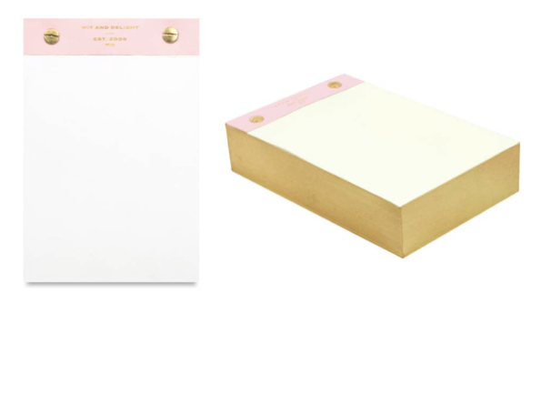 Wit & Delight Desktop Notepad - Pink