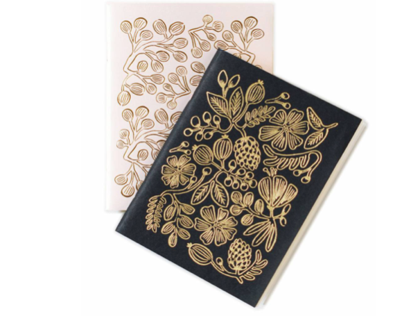 Rifle Paper Co. Pair of 2 Gold Foil Pocket Notebooks (Set of 2)