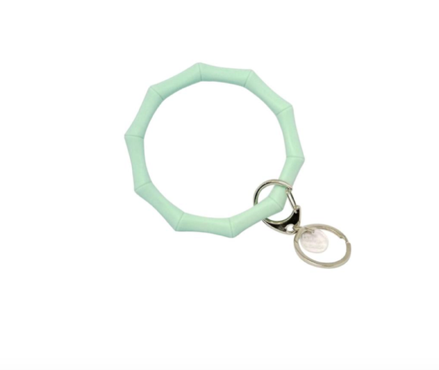 Bamboo Inspired Bangle & Babe Bracelet Keychain - Mint (+$4)